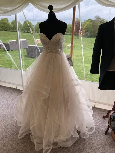 Burr Bridal dress on display at Burloes Hall wedding fair